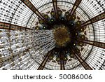 Arch roof of the dome in Galeries Lafeyette in Paris, capital of France, Europe