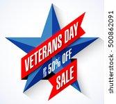 veterans day sale banner... | Shutterstock .eps vector #500862091