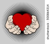 the image of the heart in his... | Shutterstock .eps vector #500864314
