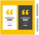business seminar invitation...   Shutterstock .eps vector #500865601