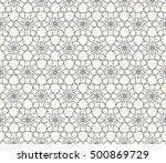 seamless geometric line pattern ... | Shutterstock .eps vector #500869729