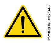 hazard warning attention sign ... | Shutterstock .eps vector #500871277