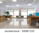 an office room with nobody. 3d... | Shutterstock . vector #50087155