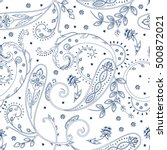 vector abstract paisley and... | Shutterstock .eps vector #500872021