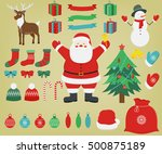 christmas set with decoration... | Shutterstock .eps vector #500875189