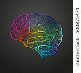 colorful vector of human brain. ... | Shutterstock .eps vector #500875471