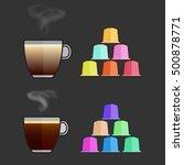 flat vector cappuccino ... | Shutterstock .eps vector #500878771