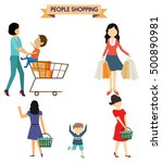 people shopping icons various... | Shutterstock .eps vector #500890981