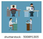 human at work icons various... | Shutterstock .eps vector #500891305