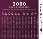 set of 2000 minimal and solid... | Shutterstock .eps vector #500896291