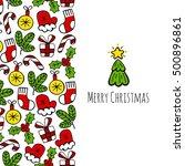 christmas vertical banner color ... | Shutterstock .eps vector #500896861
