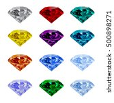 set of shining jewels isolated... | Shutterstock .eps vector #500898271