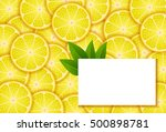 banners with lemon | Shutterstock .eps vector #500898781