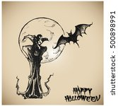 halloween vector collection... | Shutterstock .eps vector #500898991