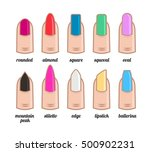shape nails with nail polish.... | Shutterstock .eps vector #500902231