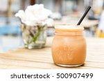 pink smoothie. detox superfood | Shutterstock . vector #500907499