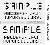 font made of lines  you can... | Shutterstock .eps vector #500907577