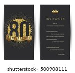 80th anniversary decorated... | Shutterstock .eps vector #500908111