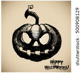 halloween pumpkin vector... | Shutterstock .eps vector #500908129