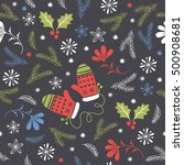 seamless christmas pattern   | Shutterstock .eps vector #500908681