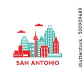 san antonio city architecture... | Shutterstock .eps vector #500909689