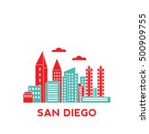 san diego city architecture... | Shutterstock .eps vector #500909755
