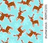 christmas seamless pattern... | Shutterstock .eps vector #500912101