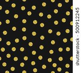 seamless pattern with gold... | Shutterstock .eps vector #500912245