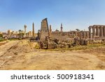 the famous amenhotep colonnade... | Shutterstock . vector #500918341