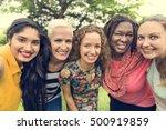 group of women socialize... | Shutterstock . vector #500919859