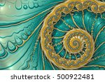 abstract fractal background... | Shutterstock . vector #500922481