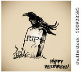 halloween vector collection... | Shutterstock .eps vector #500923585
