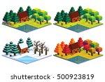 vector set of four seasons... | Shutterstock .eps vector #500923819