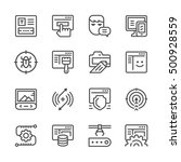 set line icons of web... | Shutterstock .eps vector #500928559