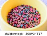 dried dog food in a bowl | Shutterstock . vector #500934517