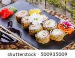 hot fried sushi roll   maki... | Shutterstock . vector #500935009