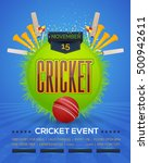 cricket event poster template... | Shutterstock .eps vector #500942611