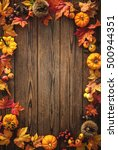 Vintage Autumn Border From...