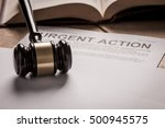 class action title on documents | Shutterstock . vector #500945575