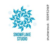 blue and white snowflake vector ...