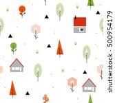 scandinavian geometric seamless ... | Shutterstock .eps vector #500954179