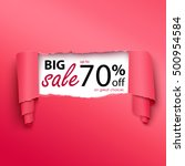 big sale banner in the... | Shutterstock .eps vector #500954584
