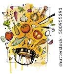 cooking utensils   Shutterstock .eps vector #500955391