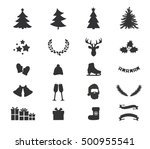 christmas icons with christmas... | Shutterstock .eps vector #500955541