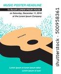 guitar music concert poster... | Shutterstock .eps vector #500958361