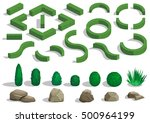 Set Of Elements For Landscape...