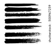 vector set of grunge brush... | Shutterstock .eps vector #500967259