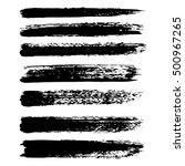 vector set of grunge brush...   Shutterstock .eps vector #500967265
