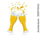 clink two beer glasses. the... | Shutterstock .eps vector #500970421