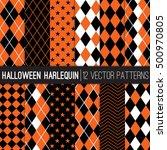halloween harlequin vector... | Shutterstock .eps vector #500970805